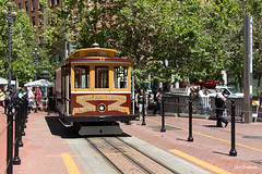 San Francisco (Jan Dreesen) Tags: sf san francisco california californië usa united states vs verenigde staten amerika america openbaar vervoer transport public transit municipal railway muni tram kabeltram cable car market street financial district embarcadero station