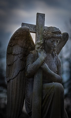 Steadfast_Color (Kevin Rodde Photography) Tags: cemetery bluffspringcemetery monument statue bluff city elgin illinois crucifix cross angel grasp kevinroddephotography kevinrodde canon eos6d sigma 85mm 14 art