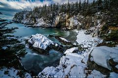 Fresh Snow on the Bold Coast (Adam Woodworth) Tags: bayoffundy boldcoast downeast maine newengland rockybeach snow winter