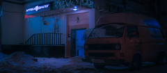 Van. (igor.relsov) Tags: shots cineminer nightphotography lamp car cars streets mystic cinematography street streetphotography night light cinematic cinema strange evening photography