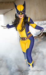 Wolverine (S1Price Lightworks) Tags: wolverine x23 xmen marvel comics katsucon 2017 comic cosplay cosplayer girl smoke claws portrait canon action shot