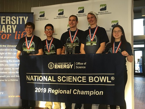 2019 North Dakota Science Bowl winners