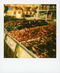 Chile Japones (tobysx70) Tags: polaroid originals color 600 instant film slr680 chile japones valeria's groceries grand central market broadway dtla downtown los angeles la california ca chiles chili hot pepper peppers dried hontaka santaka oriental sichuan cooking bokeh toby hancock photography