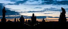 Prague Sunrise (drasphotography) Tags: prague praha prag sunrise dusk silhouette travelphotography reisefotografie drasphotography nikkor2470mmf28 d810 czechrepublic tschechien charles bridge karlsbrücke sky himmel cielo urban romantic blue hour city cityscape