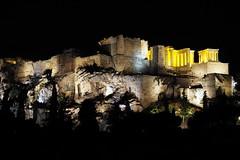 The Acropolis at night (routemates) Tags: europe athens greece antiquity mediterranean acropolis lycabetus parthenon