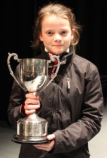 Isabel receives the cup for 1st Place in the 3rd section