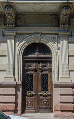 43 rue du Maréchal Foch (Zéphyrios) Tags: strasbourg basrhin alsace grandest nikon d7000 porte door xix néorenaissance pilastres feuilledacanthe marceleissen