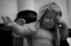 St.Paulus 8 (Phil*ippe) Tags: saint paulus church antwerp blackwhite black white tomb statue angel sword philippus paul