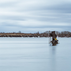 Wreck of the Connestoga (Kevin Tataryn) Tags: ship wreck shipwreck connestoga cardinal longexposure river stlawrence ontario canada winter water nikon d500 1755 maritime history smokestack engine