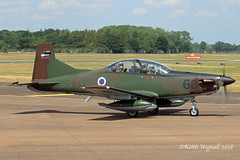 L9-68  Pilatus PC-9  Slovenian Territorial Defence Force (Keith Wignall) Tags: fairford ffd riat pilatus pc9 slovenianterritorialdefenceforce