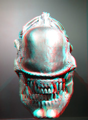 Alien Kunsthal 3D (wim hoppenbrouwers) Tags: alien kunsthal 3d anaglyph stereo redcyan aliens