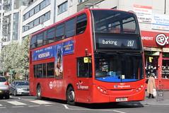 SL 19837 @ Station Parade, Barking (ianjpoole) Tags: stagecoach london alexander dennis enviro 400 lx61ddj 19837 working route 287 abbey wood lane rainham barking train station