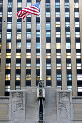 X_P1130490 (Menny Borovski) Tags: graybar building artdeco facade newyork flag pole