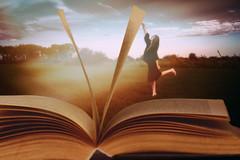 The book of my life (Ans van de Sluis) Tags: 2018 ansvandesluis october creative female fineart paint portrait selfportrait sky woman surreal write writing lifestory painterly