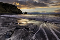 Talisker (Images from the Dark Side) Tags: talisker bay beach sunset sea tide black sand