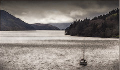 Loch Long(Scotland) (williamwalton001) Tags: scotland pentaxart loch landscapephoto mountains water woodlands boat texture timber tones sky