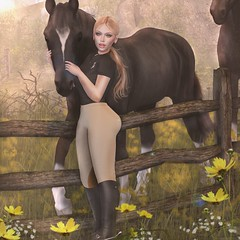 LOTD 155 (The Essence Of Fashion) Tags: genusproject insol maitreya swallow dirtyprincess uber focusposes netherwood secondlife blog fashion pose backdrop 3d virtual horse riding
