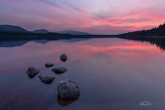 Crimson Echo (http://www.richardfoxphotography.com) Tags: purple sky sunset lochmorlich redskies redsunset loch lake scotland scottishhighlands reflections outdoors cairngorms cairngormsnationalpark