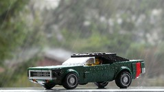 Dodge Charger in the Rain (captain_joe) Tags: toy spielzeug 365toyproject lego minifigure minifig moc car auto 7wide dodge charger 75893