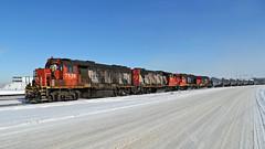 IMG_1155A CN 7526 (Colin Arnot) Tags: railroad railway locomotive switching tankcar oiltrain edmonton cloverbar cn canadiannational gp382 cn7526 cn7503 gp382w cn4767 gp9rm cn7261