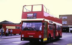 Slide 134-91 (Steve Guess) Tags: addlestone surrey england gb uk open top topper topless dms daimler fleetline thx291s leaside london buses dms2291 b20