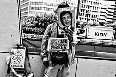 The Big Issue..... (Victor Borst) Tags: str street streetphotography streetlife reallife real realpeople asian asia asians faces face candid travel travelling trip traveling urban urbanroots urbanjungle blackandwhite bw mono monotone monochrome thebigissue japan japanese tokyo city cityscape citylife fuji fujifilm xpro2 happyplanet asiafavorites