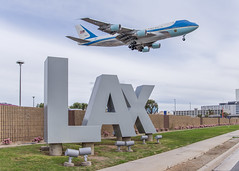 Air Force One (FACanet) Tags: lax potus president boeing 747 vc25 usaf usa airplane landing airport