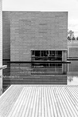 The Pavilions Water Court at Glenstone Museum (jtgfoto) Tags: glenstone glenstonemuseum art museum architecture design sonyimages sonyalpha maryland montgomerycounty archite architecturalphotography watercourt courtyard water monochrome blackandwhite blackwhite bnw geometry