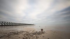 littlehampton beach (Emma Varley) Tags: beach littlehampton westbeach westsussex clouds sand pebbles longexpoure shaky embracethegrey hairandweather