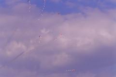 Berlin SXF ILA 2002 Schweitzer Kunstflugstaffel (rieblinga) Tags: berlin sxf ila schönefeld 2002 schweitzer kunstflugstaffel himmel wolken analog canon eos 1v kodak ebk 100 e6