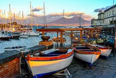 Italy - Napoli (andrei.leontev) Tags: naples italy italia italie italien mount vesuvius napoli neapel boat bateau harbour