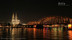 Köln (Fotomanufaktur.lb) Tags: köln dom hohenzollernbrücke rhein nacht fluss spiegelung