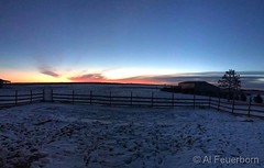 February 9, 2019 - A pretty sunrise on the plains. (Al Feuerborn)
