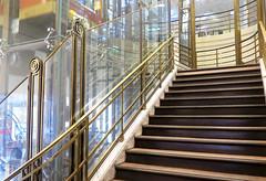 Old stairs in the Galeries Lafayette (Sokleine) Tags: escalier elevator stairs steps marche ascenseur belleepoque departmentstore grandmagasin galerieslafayette paris 75009 france metallic architecture interior details