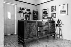 Interior of the German restaurant Strudel Hals (elcio.reis) Tags: brasil sãopaulo nikon interior vintage restaurant brazil decoration blackwhite restaurante bw pb decoração sãoroque br