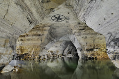 La rosace (flallier) Tags: carrière souterraine gypse underground gypsum quarry lac lake souterrain subterranean eau water plâtre plâtrière nikon 20mm nikkor d700