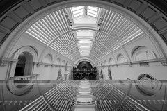 Light & Lines (Pete Rowbottom, Wigan, UK) Tags: london city reflection white black light lines uk d750 nikon wideangle england bright symmetry glass ornate gallery clean arch