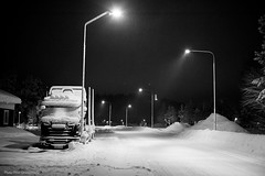 Winter! (petergranström) Tags: approved winter vinter snow snö evening kväll truck lastbil street gata lampor lamps