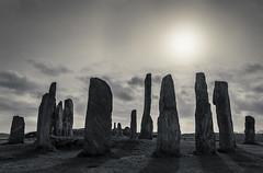 Stones Alone (SkyeWeasel) Tags: scotland hebrides outerhebrides lewis landscape callanish calanais standingstones contrejour