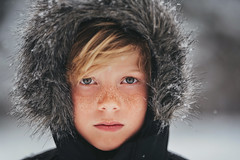Winter portrait (Elizabeth Sallee Bauer) Tags: 9yearold feburary nature wisconsin active blondhair boy child childhood children cold deepsnow family happiness kid kids outdoors outside portrait snow snowstorm weather winter youth