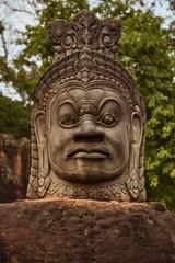 Angkor Thom – South Gate Guardian (Thomas Mülchi) Tags: angkor siemreap cambodia 2018 siemreapprovince angkorthom southgate moat bridge gate statues gods deamons naga snake serpentsevenheaded krongsiemreap kh