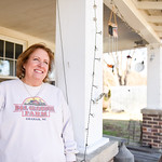 Lisa Glosson, front porch, D&L Glosson Farms