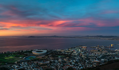 Sunset over Cape Town, Western Cape / South Africa (_striki_) Tags: sunset sonnenuntergang kapstadt greenpoint suedafrika south africa afrika colors farben cape town sky himmel langzeitbelichtung longexposure