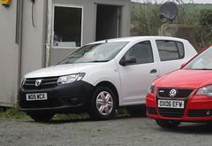 2015 Dacia Sandero Access (occama) Tags: wg15wcx 2015 dacia sandero access car white basic simple modern cornwall uk romanian used