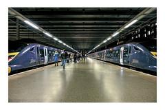 St. Pancras International station. (tetleyboy) Tags: railway london hs1 train platform urban urbex blauorangestyle editedindarktable frame perspective leadinglines 500px publicbuildings