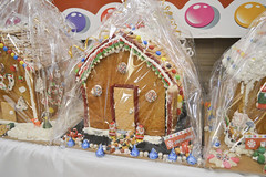 Gingerbread House Decorated by Sports & LeisureDome (NottawasagaResort) Tags: nottawasagaresort nottawasaga nottawasagainn nottawasagainnresort inn resort hotel raffle humane society gingerbread gingerbreadhouse candy house chocolate frosting christmas charity alliston allistonontario donation staff event dogs cats pets sugarplumfair sugar plum fair spf barbie cookie monster local animals
