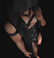 Just A Little Taste (Troy Venom) Tags: corset hood belleza black dark desire mysterious aloof elusive pansexual lgbtq lust tattoo