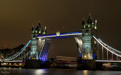 Whilst the bridge is up... (Dan Elms Photography) Tags: towerbridge bridge longexposure movement thames riverthames skyline cityscape canondslr canon canon5dmkiii canon5d 24105l london cityoflondon city capital road boat