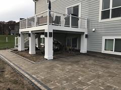 IMG_1383 (1) (Green Oasis Landscapes) Tags: ferch 16 deck post wraps drop secondary fascia azek sconce lights ntd beefy rustic slab lafitt aspen charcoal border