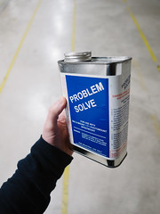 Problem Solve (Zack Huggins) Tags: olympusomdem5markii olympusmzuikoed12mmf2 vscofilm pack01 dallastx designdistrict problemsolve can literal metaphor bokeh dof microfourthirds wideangle warehouse frameshop artreproduction photomount spraymount industrial hand handheld availablelight lowlight highiso